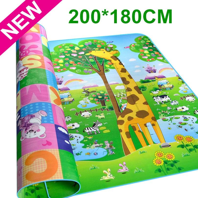 Maboshi Double Sides Children Baby Play Mat Giraffe And Bear Waterproof Kids Beach Picnic Carpet Rug Baby Crawling Mat CM-188