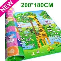 New Arrive Doulble Site Baby Play Mat 2 1 8 Meter Giraffe And Bear Child Beach