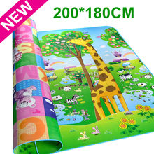 Maboshi Double Sides Children Baby Play Mat Giraffe And Bear Waterproof Kids Beach Picnic Carpet Rug Baby Crawling Mat CM-188(China)