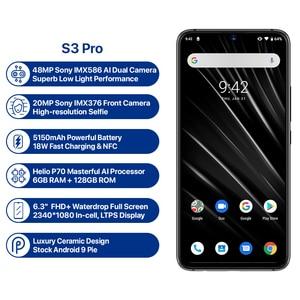 "Image 2 - Global 4G UMIDIGI S3 Pro Android 9.0 Mobile Phone 48MP+12MP+20MP 5150mAh Super Power 128GB 6GB 6.3"" FHD+ NFC Dual SIM Smartphone"