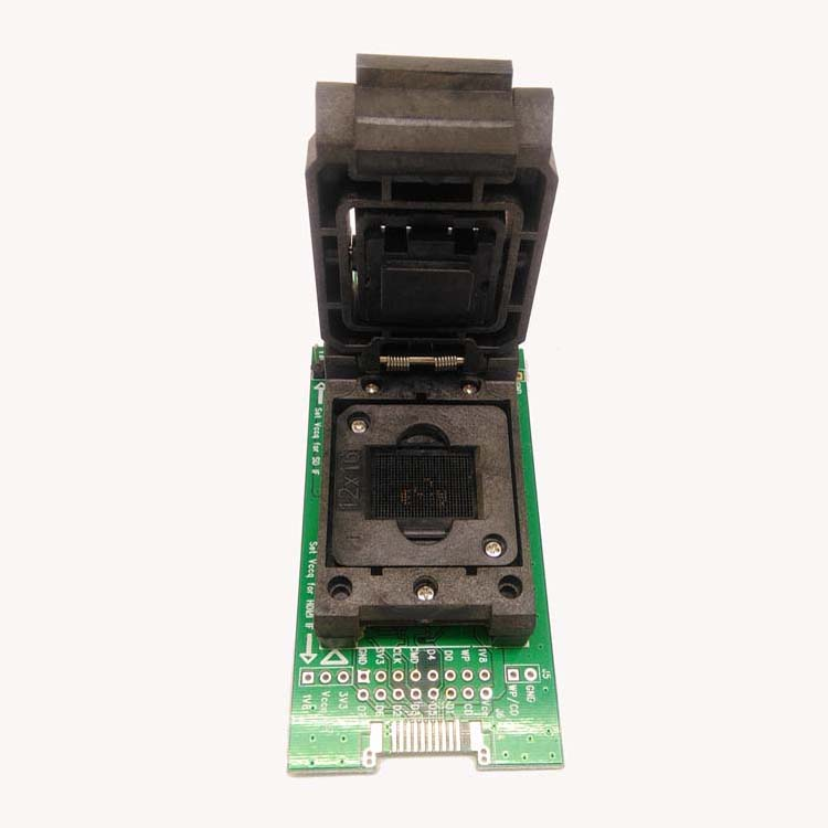 for BGA153 <font><b>BGA169</b></font> <font><b>socket</b></font>,eMMC test adapter with SD Interface,HDMI Interface bonding pads 12*18mm Clamshell,for data recovery image