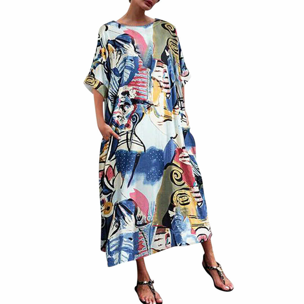 Плиссированные повседневные платья для женщин s Bohemia цветочный пляжный халат платье от солнца женские свободные Vadim женская сексуальная шея Змеиный узор платье