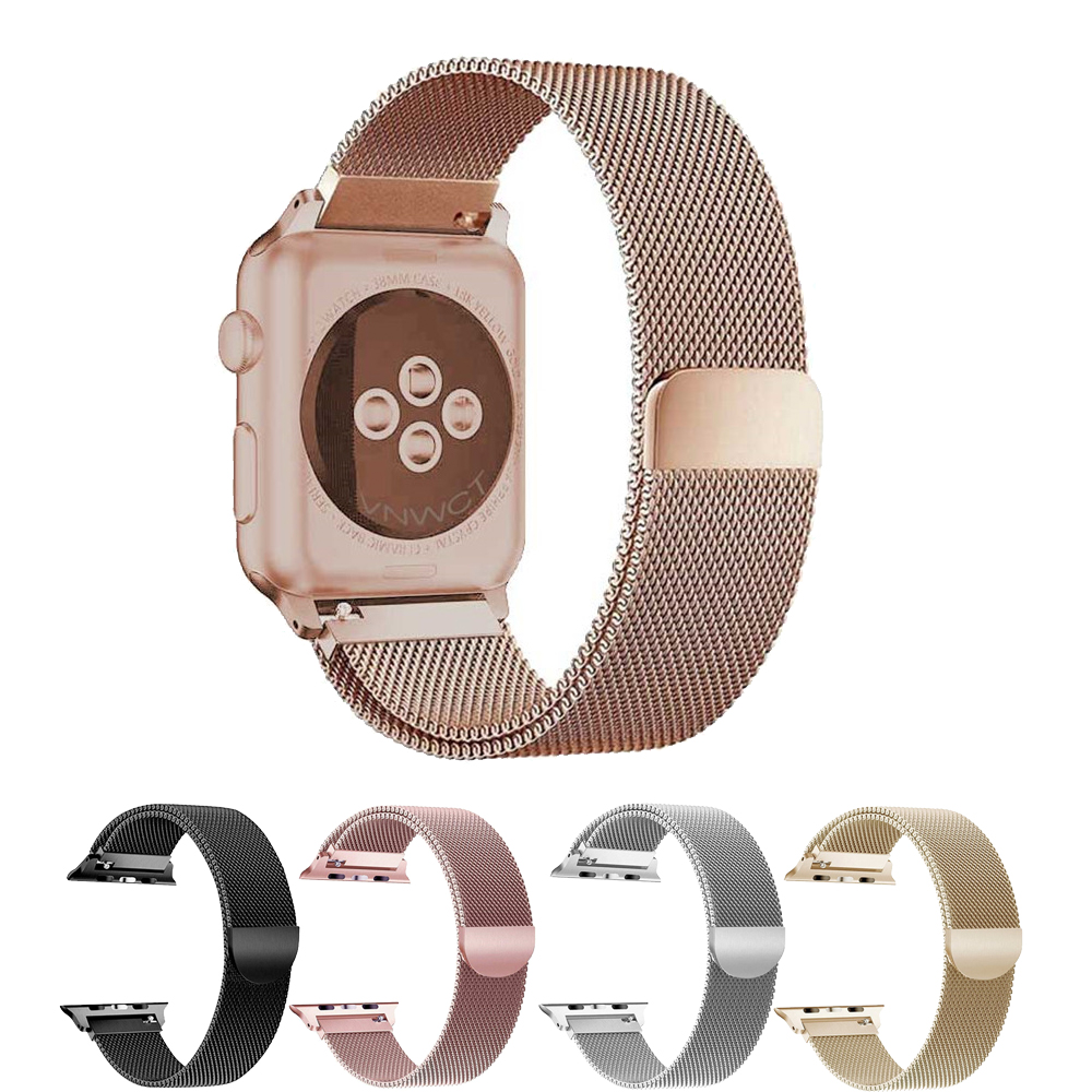 все цены на CRESTED Milanese Loop strap For Apple Watch Band 42mm/38 iwatch Series 3/2/1 316 Stainless Steel link Bracelet Belt Wrist bands онлайн