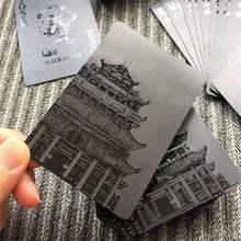 Новый 54 шт. Водонепроницаемый черный Пластик покер Карточные игры Коллекция черный бриллиант покер карты настольная игра Магия стильный подарок