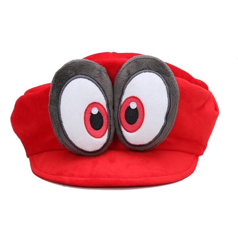 Game Super Mario Odyssey Cappy 3D Hat Adult Child Anime Cosplay Cap Super Mario Bros Plush Toy Dolls