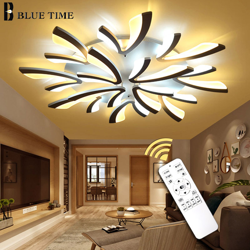 Acrylic Led Chandeliers Living room Bedroom Dining room Light Fixturse Ceiling Mounted Metail Led Chandelier Lighting