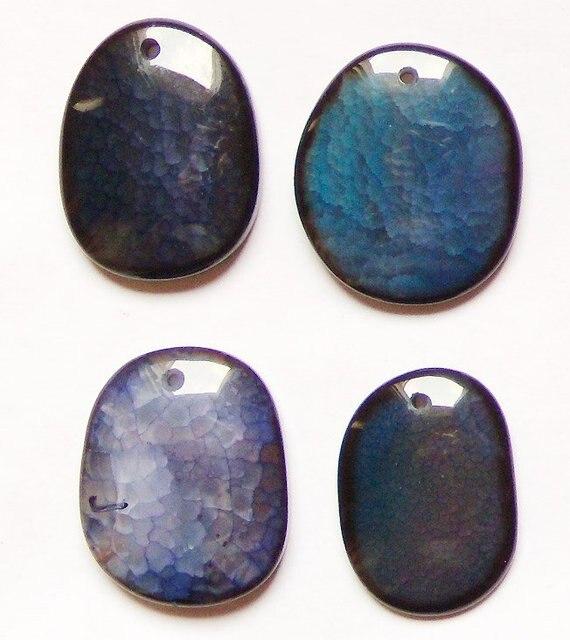 YA0144 Dragon Vein Agate Pendant Beads 35-42mm Wholesale