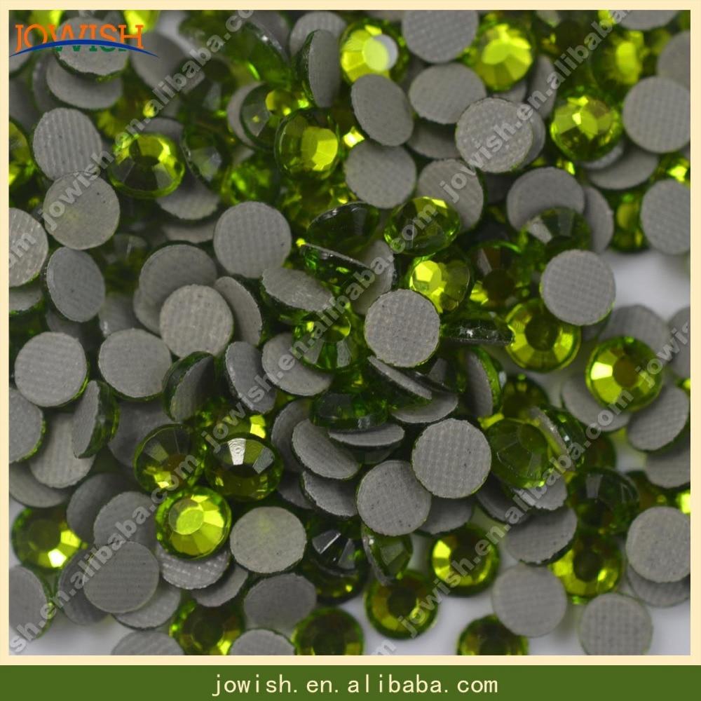 SS6 Перидот Камни Кристаллы корейский исправление горный хрусталь 1000 брутто/мешок стразы аппликация для украшения свадьбы
