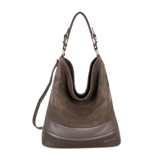 DAVIDJONES women hobo bags female PU serpentine Shoulder Bags  Ladies Handbag Top-Handle messenger bags large capacity crossbody