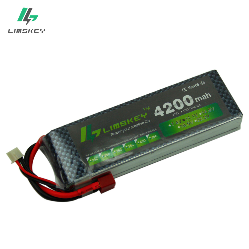 Limkey power 11.1v 4200maH 30c~35c For Helicopters Four axis Airplanes Cars Boats power T/XT60/JST/EC3/EC5 Plug 3s lipo bettary image