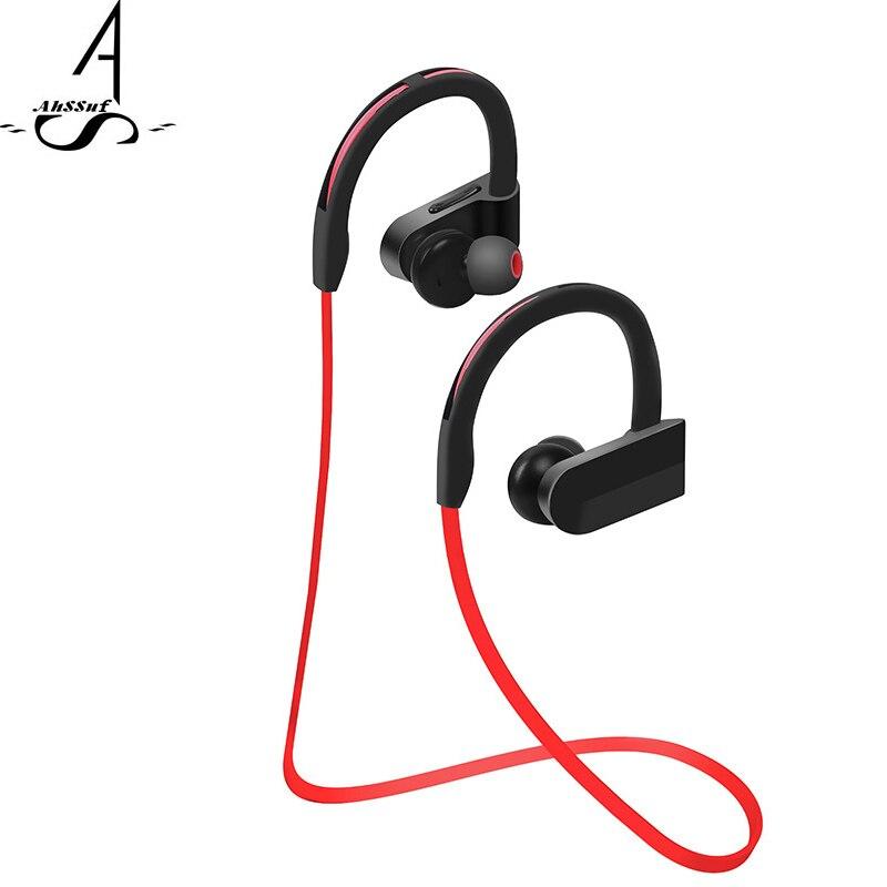 AhSSuf earhook for bluetooth headset Sports Bass Waterproof Wireless Headphones Noise Canceling smart technology for Smartphone