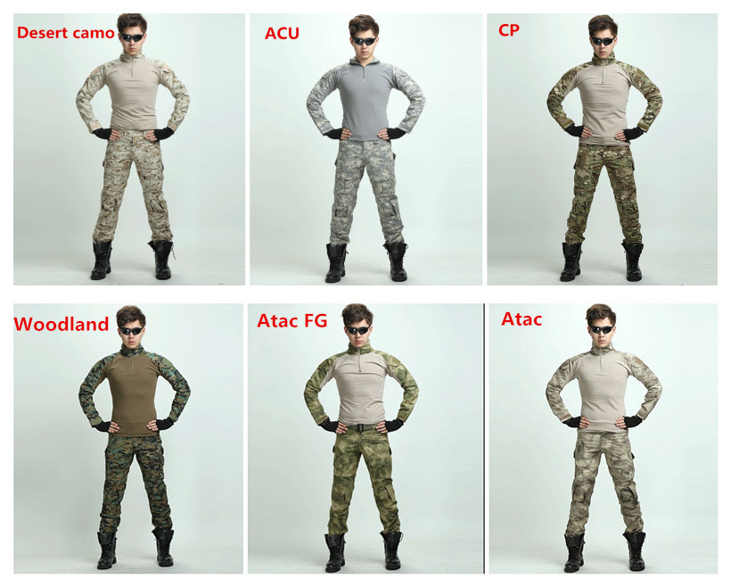 US Army Multicam Combat Militar Camouflage Shirt Military Uniform Shirts Pants Tactical Airsoftsport Hunting Clothing Knee