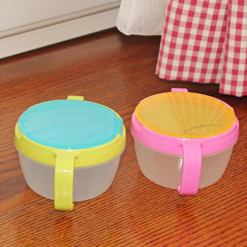 เด็กทารก 360 หมุนชามอาหารเด็กชามอาหารคอนเทนเนอร์ให้อาหารเด็กจาน T0402