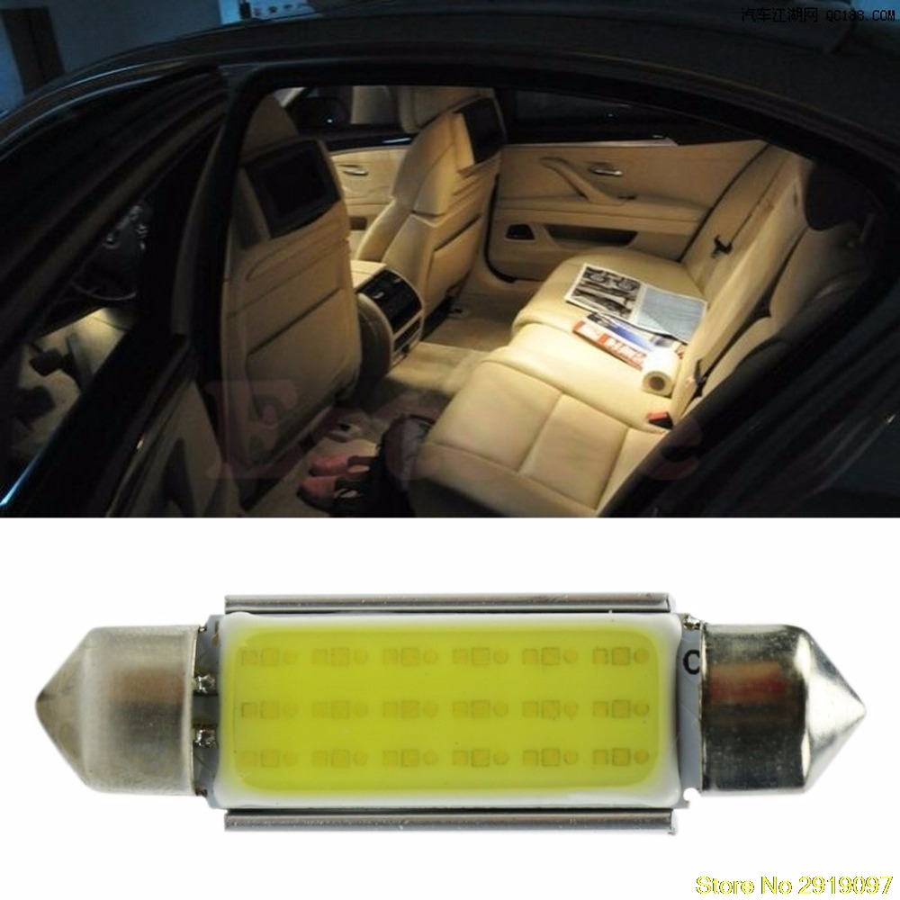 New 1x 42mm WHITE Festoon CANBUS PLASMA COB 18LED interior SMD bulbs 12V Drop Shipping Support