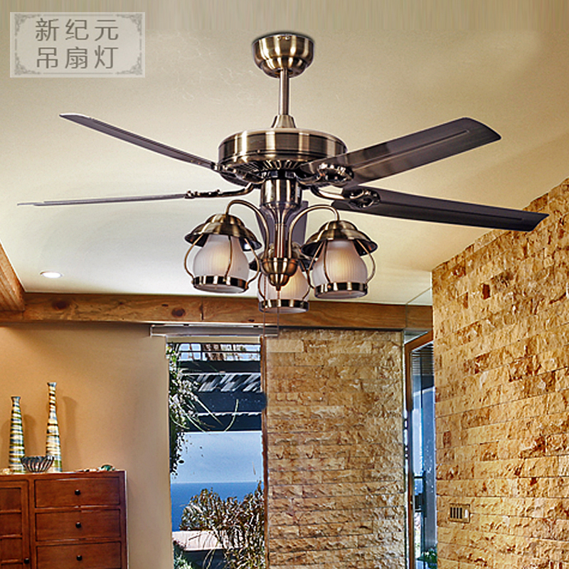 lamp 48 iron 5 3 lamp ceiling fan fashion antique pendant light remote ...