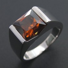 100% 925 Sterling Silver Real Smoky Quartz Wedding ceremony Engagement Rings For Males and Girls Measurement 5/6/7/eight/9/10/11