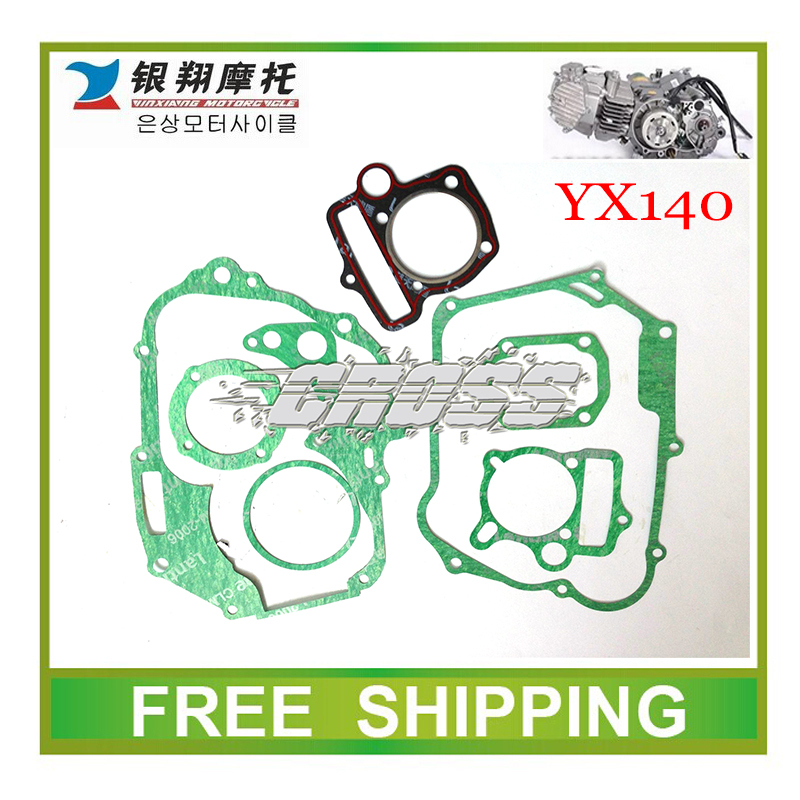 YX YX140 horizontal oil cooled engine gasket dirt pit bike kayo bse off road motorcycle accessories free shipping