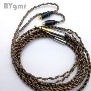 RY-C09 mmcx cable copper single crystal  super soft wire  repair upgrade Metal plug ie800 wire DIY Earphone Cable