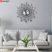 Home Decoration Art 3D Wall Clock Crystal Rhinestone Reloj Mural Modern Horloge Murale Decorative Duvar Saati