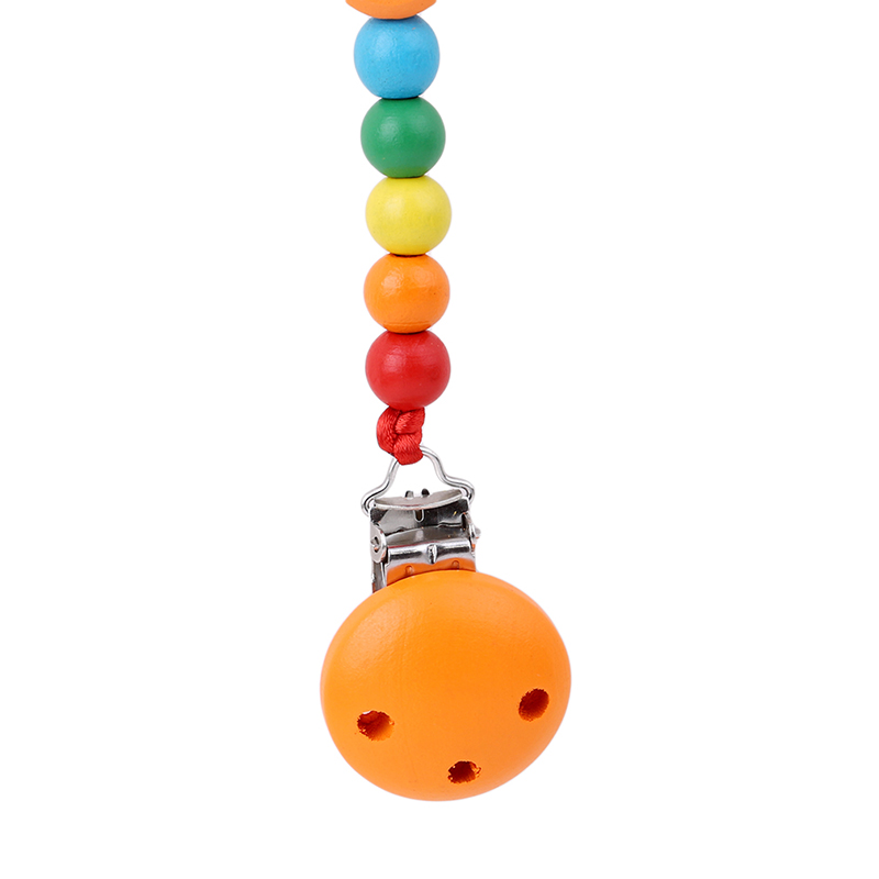 New Arrival Hot Sale Baby Wood Beaded Pacifier Clip Dummy Chain Nipple Holder Infant Soother Teether For Infant Feeding