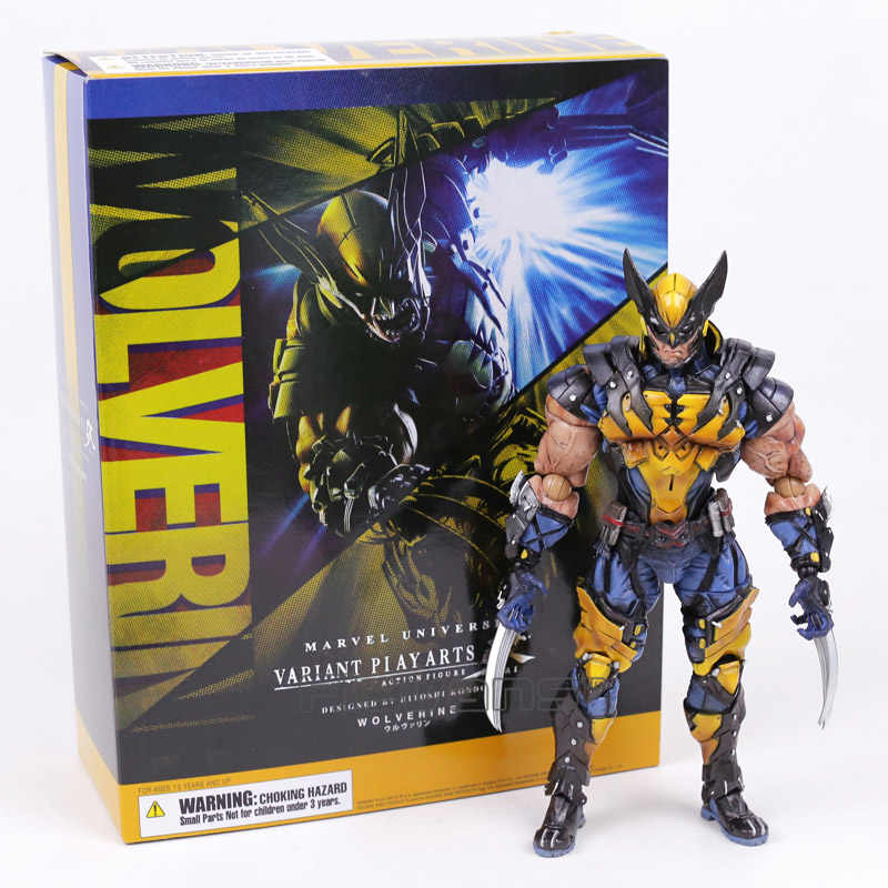 Jogar Arts Kai X-MEN Marvel Wolverine Logan PVC Action Figure Collectible Modelo Toy 26cm