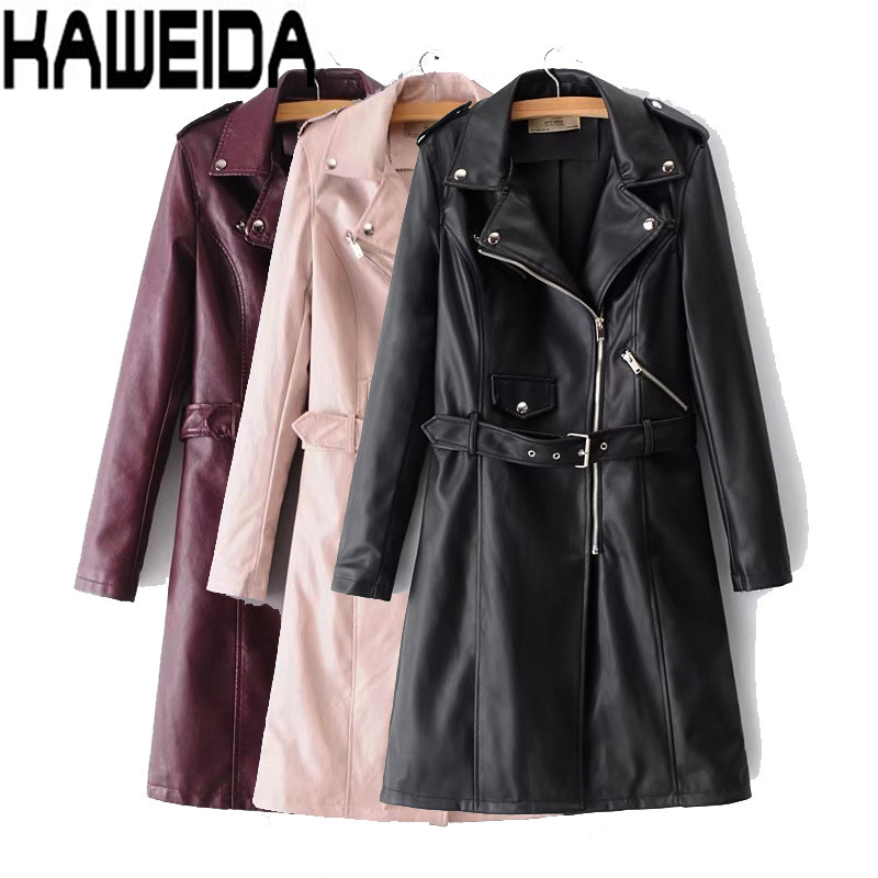 Autumn New High Fashion Brand Woman Classic Double Breasted   Trench   Coat Waterproof Raincoat Business Outerwear Dropship