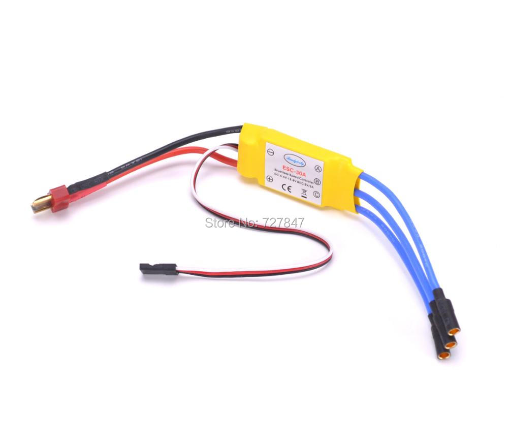 NEW 30A Brushless Speed Controller RC ESC w/ T plug and 3.5mm Banana Connector for helicopter multicopter Motor 4pcs lot original hotrc 30a brushless motor esc speed controller with jst plug for rc quadcopter rc helicopter multicopter