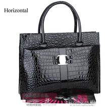 European office laides handbags,Fashion crocodile pattern shoulder bags,Luxury patent leather women messenger bags,women bag