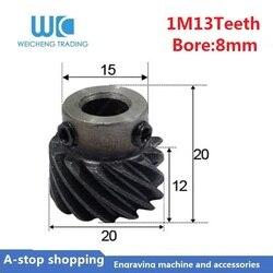 Engranaje helicoidal 1M 13 dientes agujero interior 8mm para eje del motor