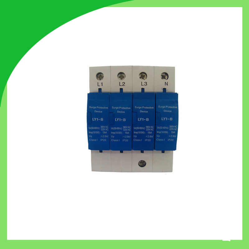 цена на Ly1-B (10/350) 15ka 4pole AC Power Surge Protection Device Surge Protector Time Delay