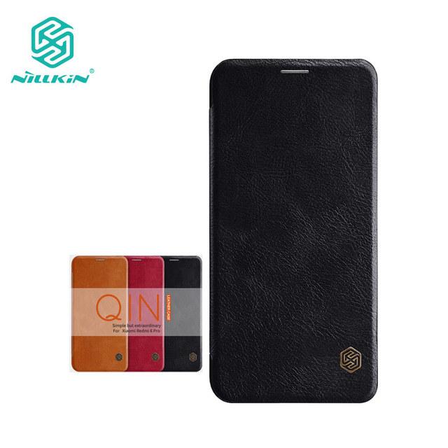 Nillkin Xiaomi Redmi 6 Pro Qin Series PU Leather Flip Case Cover