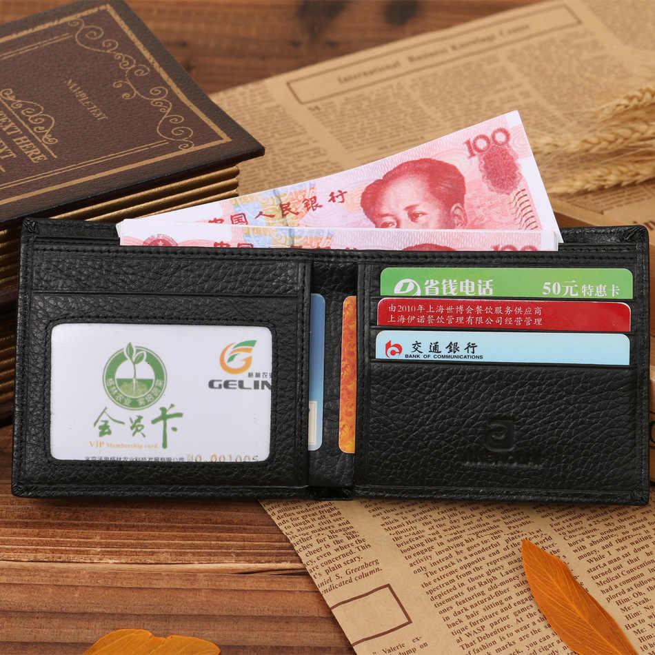 موضة التمساح رئيس الحبوب الرجال محافظ جلد طبيعي جودة الصليب العمودي المخفية جيب محفظة حمل بطاقات شحن مجاني