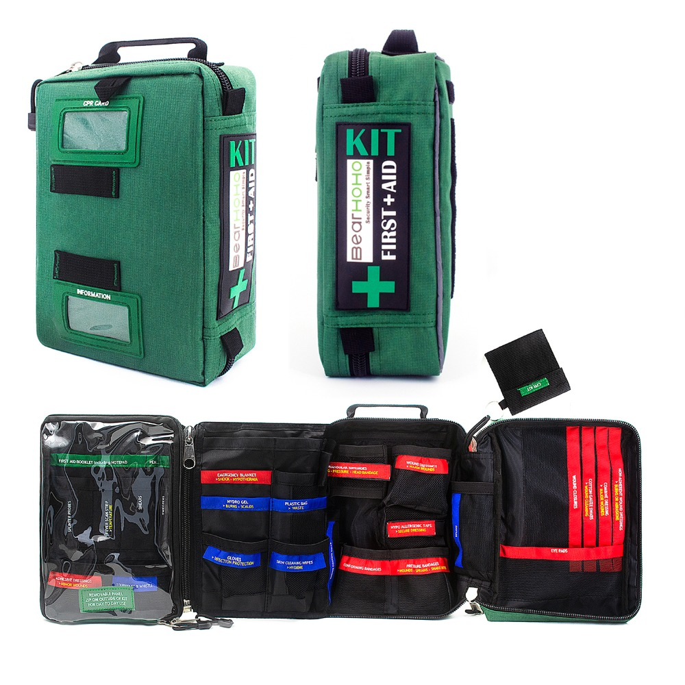 Empty First Aid Kit Bag Durable And Compact Medical Emergency Bag Survival Kit For Home Car School Workplace Hiking Camping