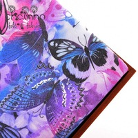 Upholstery Cotton Canvas Fabric For Sewing Bag Doll Cushion Purse Shoes Colorful Butterfly Series Half Yard