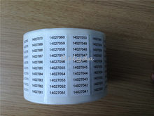 1000pcs Free shipping custom item code QR code barcode stickers serial numbers packaging labels stock mark seal tag 20*10mm(China)
