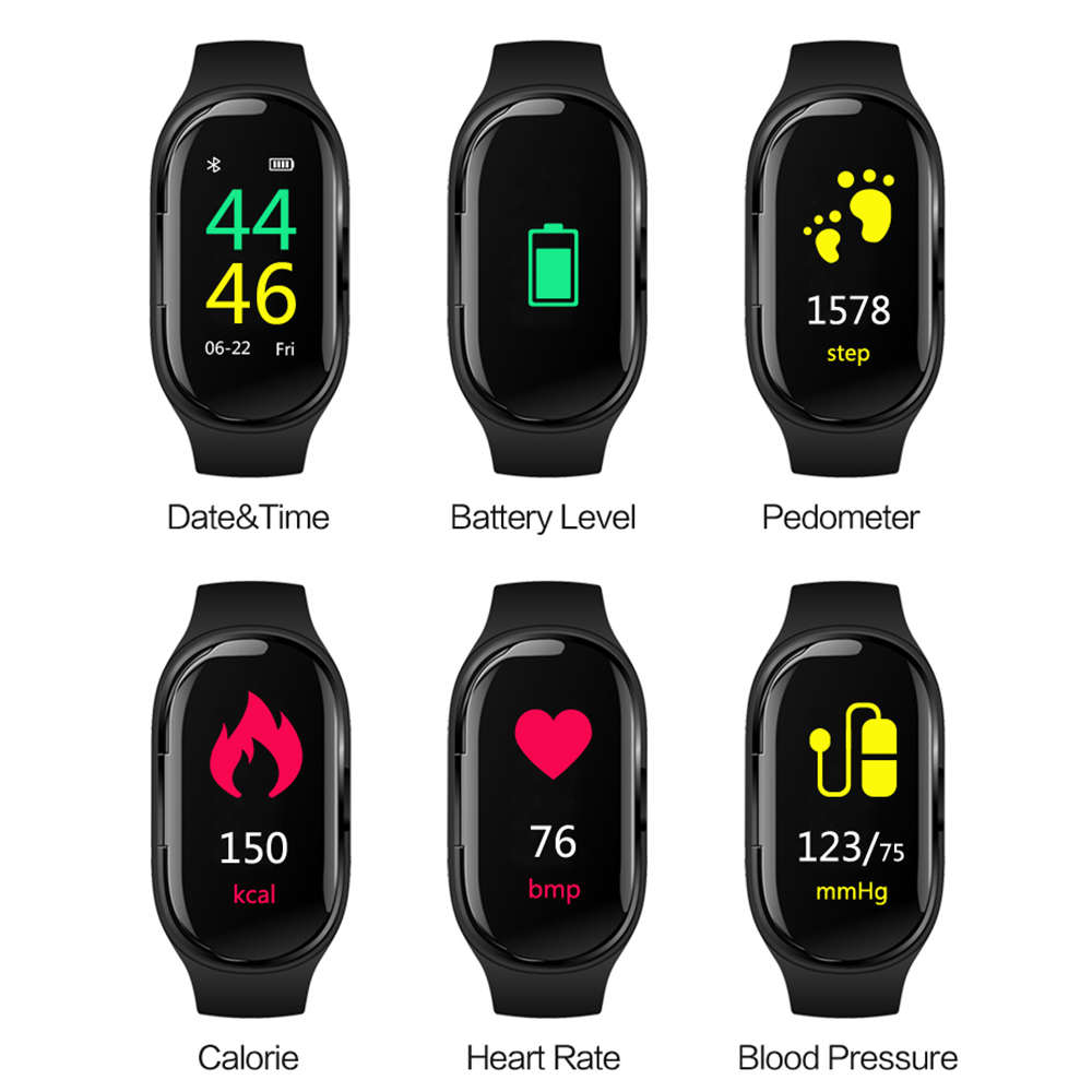 M1 Smart Watch Bracelet Wristband Fitness Band Waterproof Blood Pressure Heart Rate Monitoring Sports Smart Bracelet Pedometer in Smart Watches from Consumer Electronics