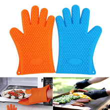 Memokey 1 piece food grade Heat Resistant Silicone Kitchen barbecue oven glove Cooking BBQ Grill Glove Oven Mitt Baking glove C цена