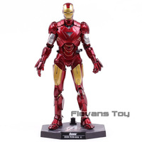 Hot Toys Iron Man Mark VI MK 6 with LED Light 1/6 Scale PVC Action Figure Collectible Model Toy