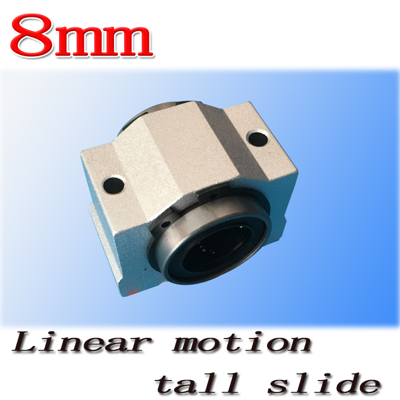 1pcs SC8V SCV8UU 8mm linear bearing bushing short sliding block inside contain LM8UU linear ball bearing for 8 mm linear shaft sz hot 4 pcs lm8uu 8mm inside dia rubber sealed linear ball bearing bushing