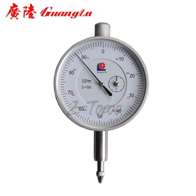 GuangLu brand 0 1mmx0 001mm dial micron indicator 0 001mm 1MM dial gauge precision measuring gauge