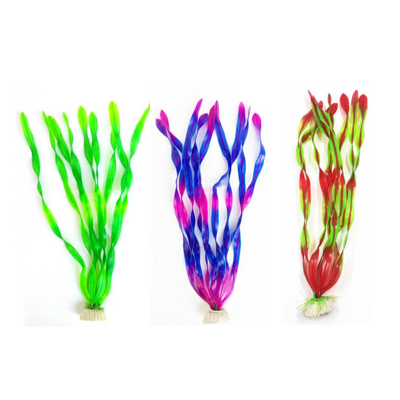 Artificial Aquarium Plant Decoration Fish Tank Submersible Flower Grass Ornament Decor For Aquarium Underwater Plant 10-30cm 5