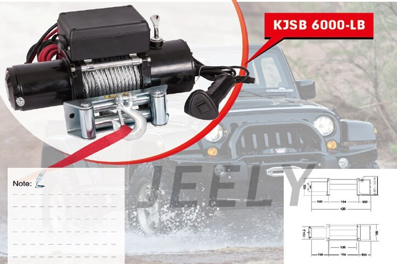 Free shipping 12V 6000LB Automobile Electric Winch,ATV/UTV/4X4/4WD Car winch 3500lb winch electric winch 12v 4x4 utv atv winch free shipping