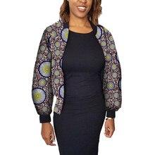 ФОТО fashion women full jacket casual african stand coats lady dashiki coats print batik costume africa clothing customized
