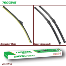 Rear And Front Wiper Blades For Skoda Octavia 2004-2012 Natural Rubber Windscreen Windshield Auto Car Accessories oge front and rear wiper blades for skoda octavia 2013 2014 2015 2016 high quality rubber windshield car accessories
