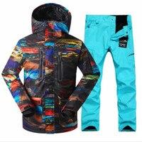 Зимняя мужская куртка спортивные Костюмы лыжный комплект бесплатная доставка Gsou снег Для мужчин лыжная куртка. Бесплатная доставка Для муж