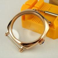 44mm reloj rosegold plateado funda SS ajuste eta 6498 6497 comer movimiento 13