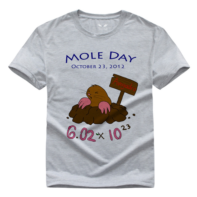 01ab679cd Scientific Mole Chemistry Men and women T-shirt Pure cotton Round collar t  shirt High quality Hey Ladies tee shirt for women
