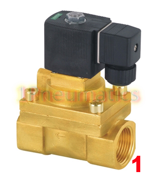 Free Shipping Brass 1'' High Pressure Steam Solenoid Valve 2/2 Way Burk Equivalent 5404-08 PTFE Valve 1 2bspt 2position 2way nc hi temp brass steam solenoid valve ptfe pilot