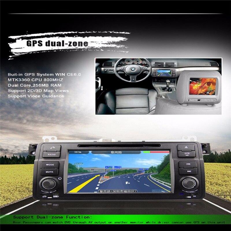 7 pulgadas de Radio DVD Del Coche Para BMW E46 serie 3 1998 GPS UIfree mapa de navegación segunda mano  Se entrega en toda España