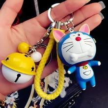 Cartoon Dog keychain female creative cute animal Zodiac keyring mix design car key chain pendant for women bag